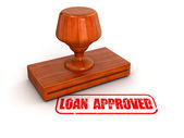 Loan approved stamp — Stock Photo