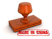 Rubber Stamp Made in China — Stock Photo