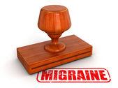 Migraine stamp — Foto Stock