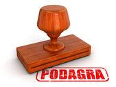 Podagra stamp — Stock Photo
