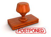 Postponed stamp — Stock Photo