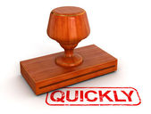 Quickly stamp — Stock Photo