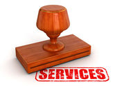 Services stamp — Stock Photo
