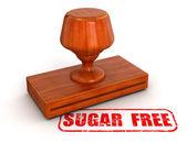 Sugar free stamp — Stock Photo