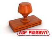 3d stamp top priority — Stock Photo