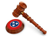 Wooden Mallet with Flag of Tennessee — Stock Photo