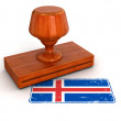 Rubber Stamp Iceland flag — Stock Photo #34860733
