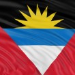 Antigua and Barbuda flag — Foto Stock