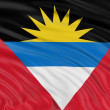 Antigua and Barbuda flag — 图库照片
