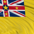 Flag of Niue — Stock Photo #34862661