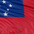 Independent State of Samoa flag — Stock Photo