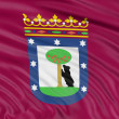 Madrid city flag, Spain. — Stock Photo