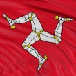 Isle of Man flag — Stock Photo