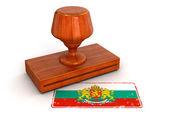 Bandeira de bulgária carimbo de borracha — Foto Stock
