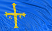 Principality of Asturias Flag — Stock Photo