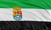 Flag of Extremadura — Stock Photo
