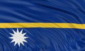 Bandeira de Nauru — Fotografia Stock