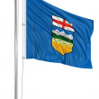 Flag of alberta — Stock Photo