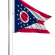 Waving Flag of USA state Ohio — Stock Photo
