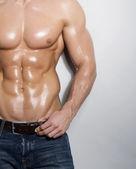 Muscular male torso — Stock Photo