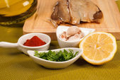Marinating fish — Stock Photo