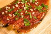 Freshly marinated mackerel — Stock Photo