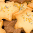 Full frame Christmas biscuits — Stock Photo