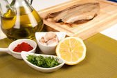Preparing a marinade — Stock Photo