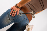 Jeans e ferramentas — Foto Stock
