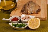 Marinating fish — Stock Photo