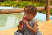 Saxophone de jouet — Photo