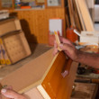 Repairing a drawer — Stock Photo