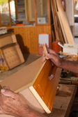 Repairing a drawer — Stock Photo