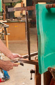 Repairing a chair — Стоковое фото