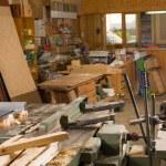 Carpenter workshop — Stock Photo