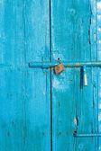 Door and padlock — Stock Photo