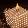 Elegant Christmas candle - Stockfoto