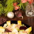 Christmas salad — Stock Photo