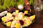 Mexican Christmas salad — Stock Photo