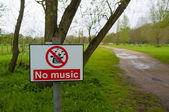 No music — Foto Stock