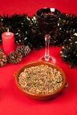 Cold Christmas salad — Stock Photo