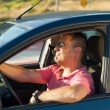 Macho driver — Stock Photo