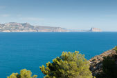 Altea bay towards Calpe — Stock Photo