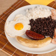 Hearty Colombian lunch — Stock Photo