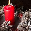 Christmas candle - Foto Stock