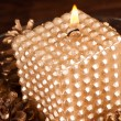 Elegant Christmas candle - Foto Stock