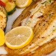 Sole with lemon — Stock Photo