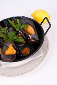 Mussel tapa — Stock Photo