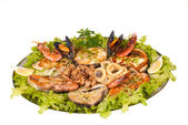 Parrillada de pescado y marisco — Stock Photo