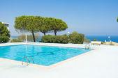 Scenic ocean view pool — Stock Photo